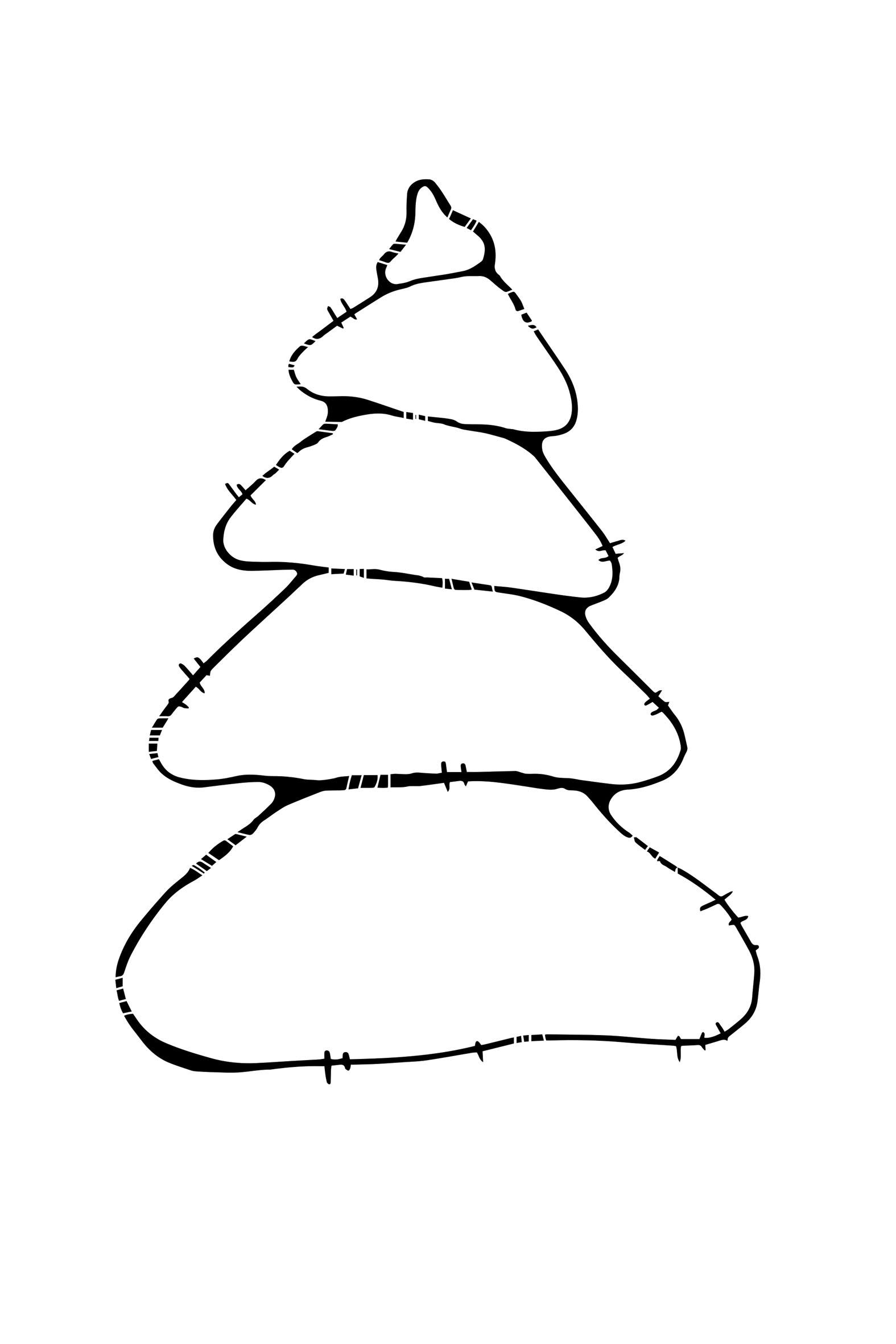 елка без игрушек — Креативные раскраски